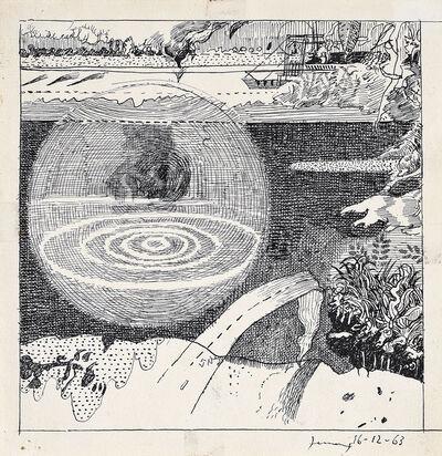Gianfranco Ferroni, 'Paesaggio del lago', 1963