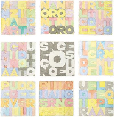 Alighiero Boetti, 'Nove Quadrati (Nine Squares)', 1979