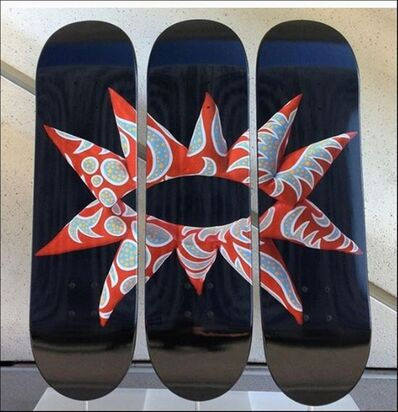 Yayoi Kusama, 'With All My Flowering Heart, Limited Edition Skate Deck Triptych', 2014