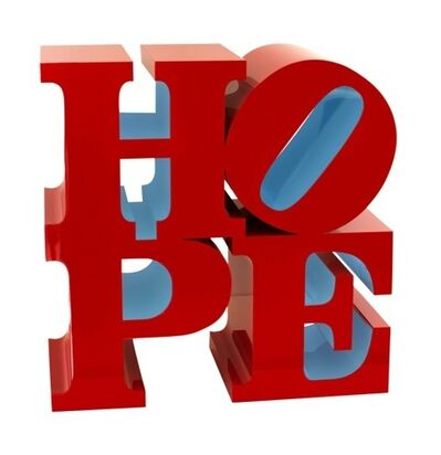 Robert Indiana, 'Hope sculpture Red Light Blue', 2009