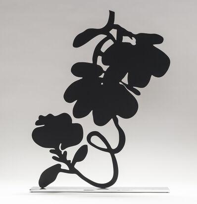 Donald Sultan, 'Black Lantern Flowers', 2018