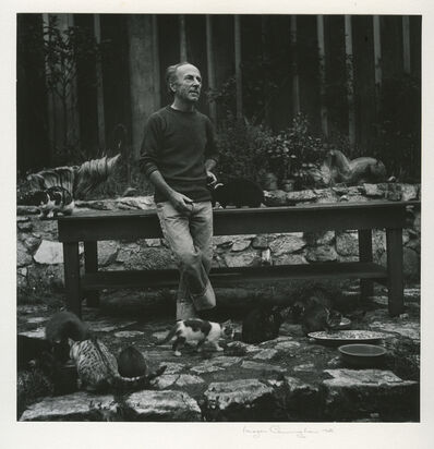 Imogen Cunningham, 'Edward Weston With Cats', 1945