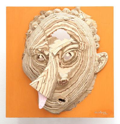 Aimé Mpane, 'La Demoiselle Pende / Masque Bi-face Picasso-Pende #21', 2014