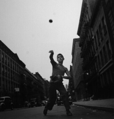 Cornell Capa, 'Pitching Ball, New York City', 1948