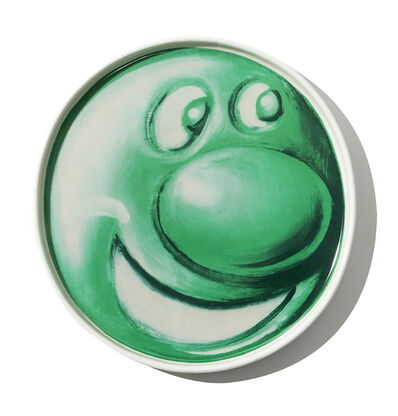 Kenny Scharf, ''Ceramic Plate' (green) x The Hundreds', 2020