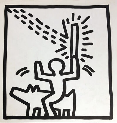 Keith Haring, 'Keith Haring (untitled) Laser Beam lithograph 1982', 1982