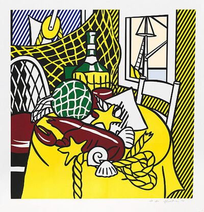 Roy Lichtenstein, 'STILL LIFE WITH LOBSTER', 1974