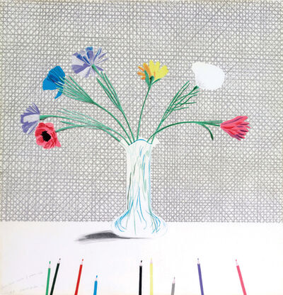 David Hockney, 'Coloured Flowers Made of Paper and Ink.', 1971