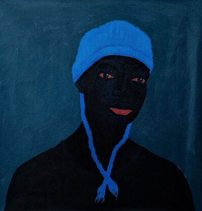 Kwesi Botchway, 'Blue winter hat', 2020