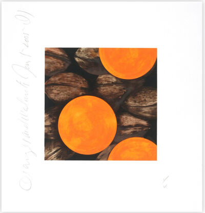 Donald Sultan, 'Oranges and Walnuts', 2005