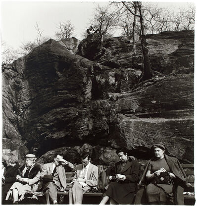Diane Arbus, 'People on a park bench, N.Y.C.', 1956