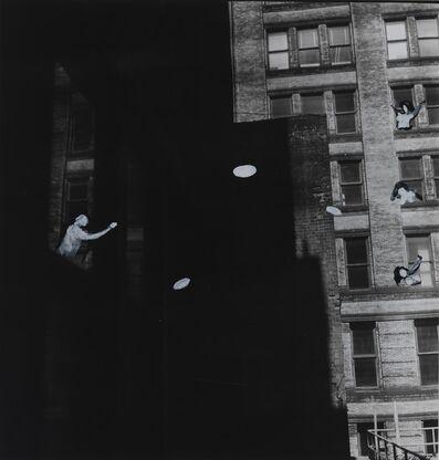 William Wegman, 'Penthouse Frisbee', 1977
