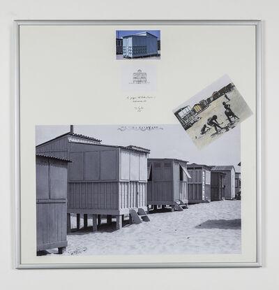 Ugo La Pietra, 'La spiaggia del Poetto - Rilevamento', 1978