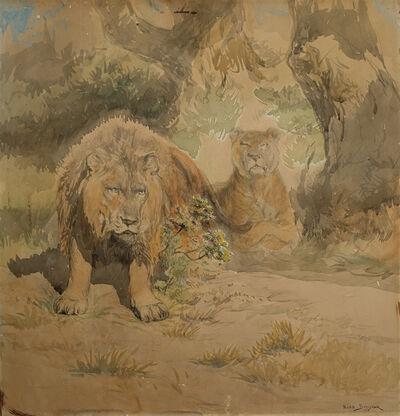 Rosa Bonheur, 'Lion et Lionnes', n.d.