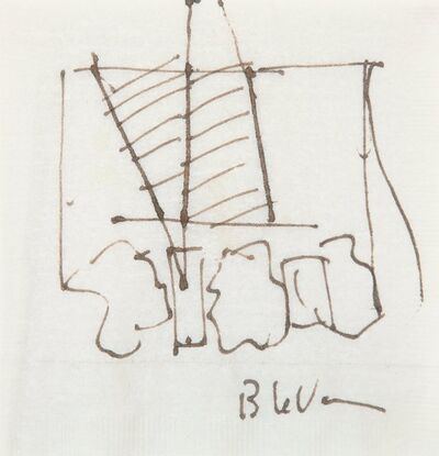 Barry Le Va, 'Untitled (Napkin Drawing)'