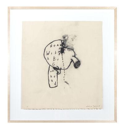 David Lynch, 'Head with Bug on Head', 2009-2010