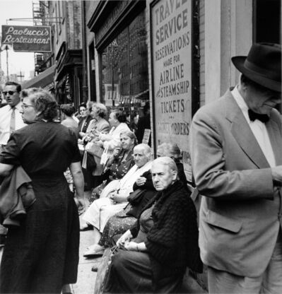 Arthur King, 'San Gennaro, Outside of Paolucci's Restaurant, Little Italy', late 1950s