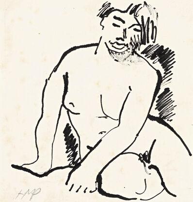 Max Pechstein, 'Sitzender Akt (Seated Nude)', 1916-1918