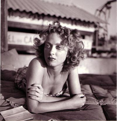 Jacques Henri Lartigue, 'Danielle Darrieux, Eden Roc, Cap d'Antibes, August', 1941