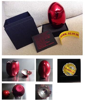 "Jeff Koons, '""Cracked Egg"", BCAM Invitation Egg, Original Box/Ribbon, RARE', 2006"