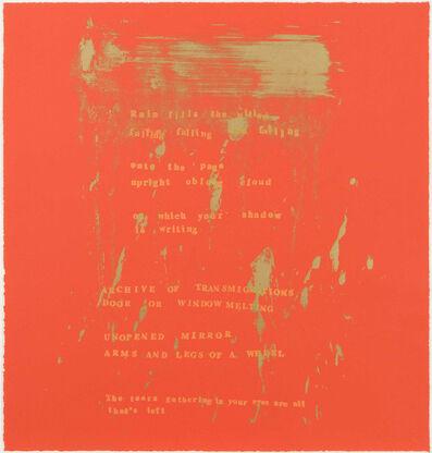 Pat Steir, 'Rain Pillow', 2000