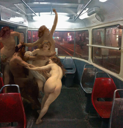 Alexey Kondakov, 'William Adolphe Bouguereau «Nymphs and Satyr». Kyiv, Starovokzalna station', 2015