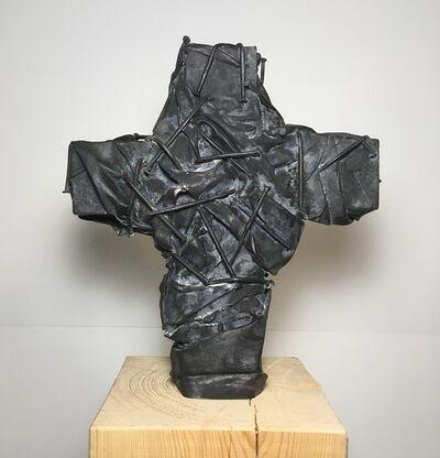 Günther Uecker, 'Nagelkreuz', 2017