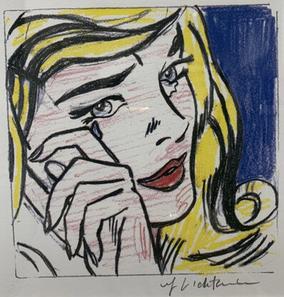 Roy Lichtenstein, 'Study for Crying Girl', 1964