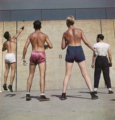 Slim Aarons, 'Handball in Central Park (Slim Aarons Estate Edition)', 1948
