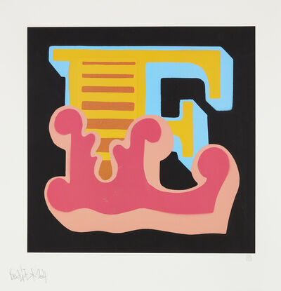 Ben Eine, 'E (pink)', 2014