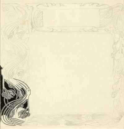 "Koloman Moser, 'Border Design probably for the Journal ""Ver Sacrum""', ca. 1898"