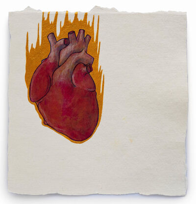 Barbara Schreiber, 'Fire Diary (Flaming Heart)', 2018