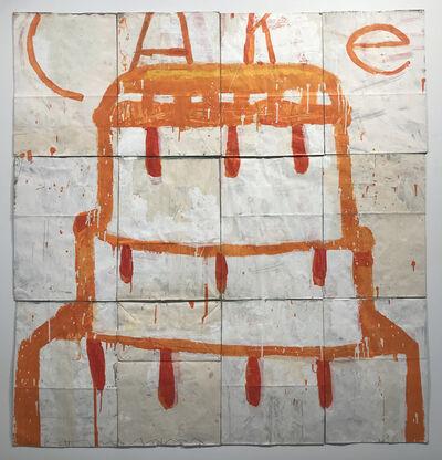 Gary Komarin, 'Cake (Orange and Pink on Creme)', 2018
