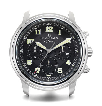 Blancpain, 'An attractive chrome plastic wall clock with center seconds', Circa 2000s