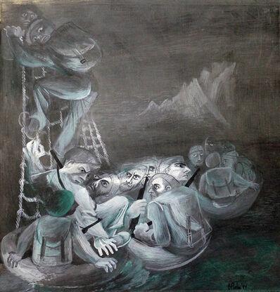 Bernard Perlin, 'Patrol Disembarks', 1944