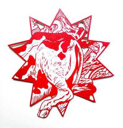 Kenichi Yokono, '12 zodiac animal signs - ass of a cow', 2017