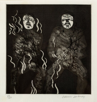 "David Hockney, '""Corpses on Fire"" for Six Fairy Tales from Brothers Grimm', 1969"