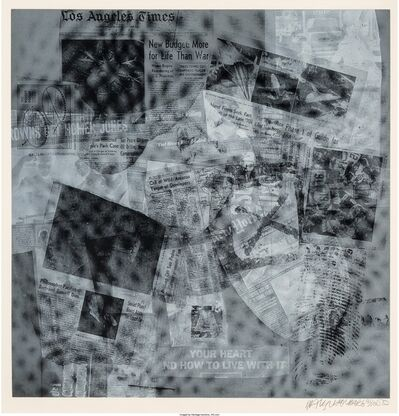 Robert Rauschenberg, 'Surface Series from Currents, Your Heart', 1970