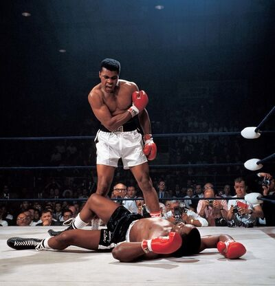 Neil Leifer, 'Ali Knocks out Liston', 1965