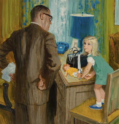Alexander Sharpe Ross, 'Caught!  Young Girl uses Doctors Bag to Patch Up her Doll', ca. 1950