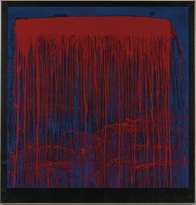 Pat Steir, 'Red and Blue Berlin Waterfall', 1993