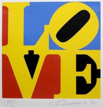 Robert Indiana, 'Love (BlueBlack Yellow Red)', 1996