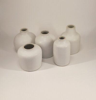Rupert Merton, 'FIVE POTS, white inside', 2
