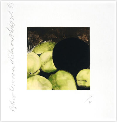 Donald Sultan, 'Black Lemons and Almonds', 2005