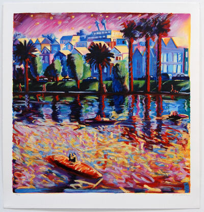 Carlos Almaraz, 'Echo Park Three ', 1990