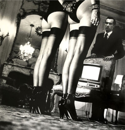 Helmut Newton, 'Two Pair of Legs Black Stockings', 1984