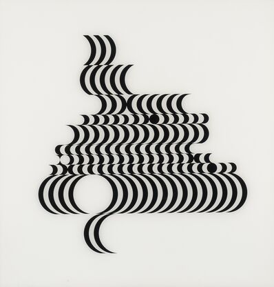 Bridget Riley, 'Untitled (Fragment 2) (Schubert 5B)', 1965