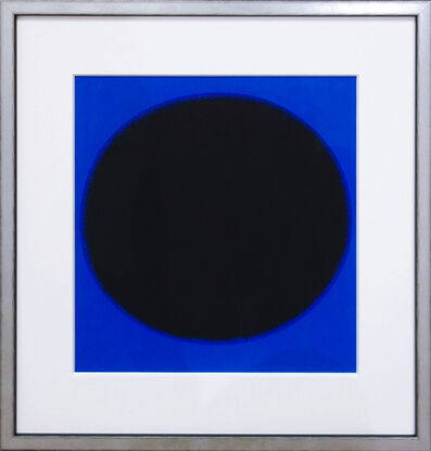 Rupprecht Geiger, 'Kreiskomposition schwarz/blau', 1970