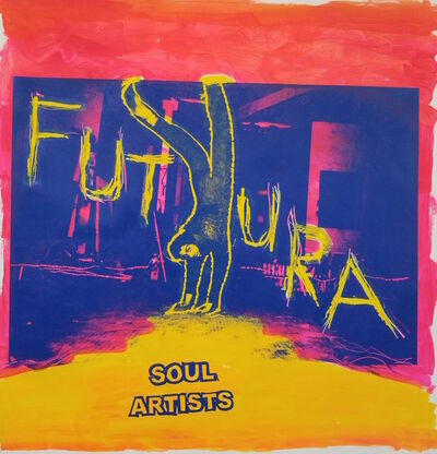 Charlie Ahearn, 'Soul Artists (Futura) red', 2018
