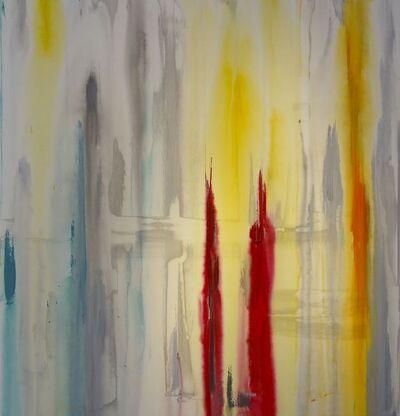 Erik Skoldberg, 'Erik Skoldberg, Cadmiums, Burgundy, Aqua, Slate', 2019